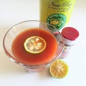 ノニ・トマトチリペッパー冷製スープ