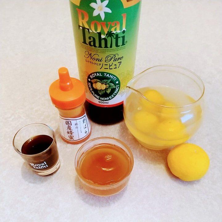 ノニレシピ、はちみつ柚子ホットノニ